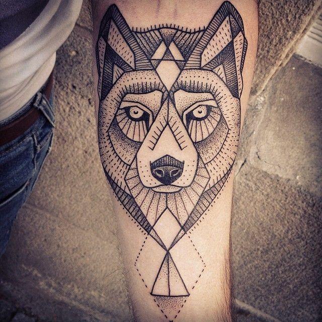 black wolf tattoo - photo #41