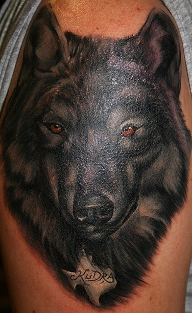 black wolf tattoo - photo #13