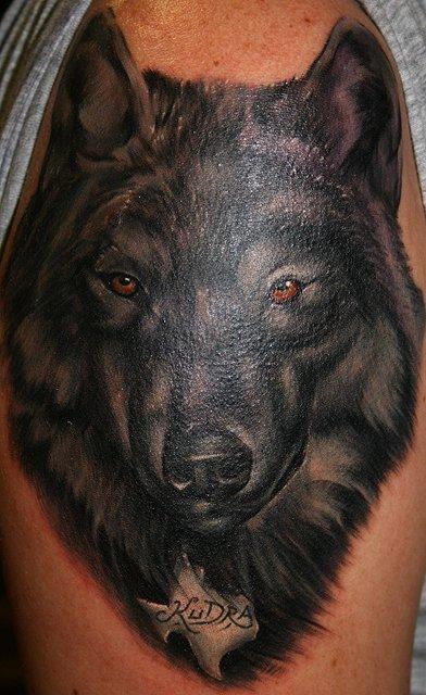 black wolf tattoo - photo #13